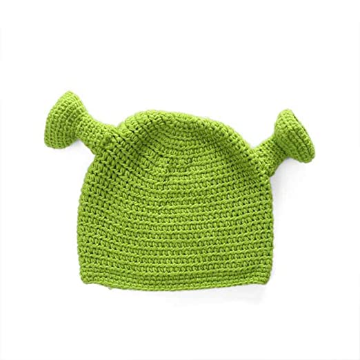 06f57cc0290 Winter Hats for Women Balaclava Monster Shrek Wool hat Creative Funny  Knitted hat Pure Hand Winter Cap at Amazon Women s Clothing store