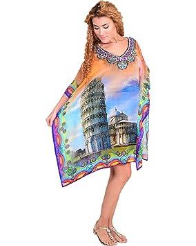 """Bayside Barcelona """"Torre de Pisa Impresión Caftan de Las Mujeres de Digital Kimono Summer"""