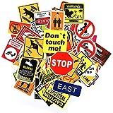 Q-Window Kit Adesivi Graffiti Decal Vinyl Deco Stickers per Laptop, Valigie, Bambini, Skateboard, Auto, Moto, Snowboard, iPhone, Nintendo, Bomb Sticker -100 Serie avvertenza/Pericolo Impermeabile