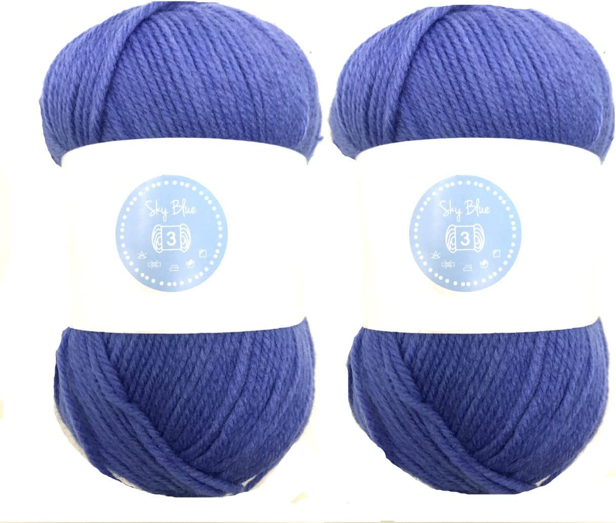 DARK GREY Needles Acrylic Knitting Yarn 8 Ply 100g Ball