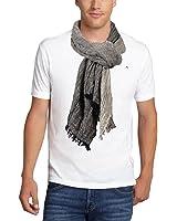 JenniWears Mens Winter Warm Fashion Long Linen Crinkle Scarf, gift for men