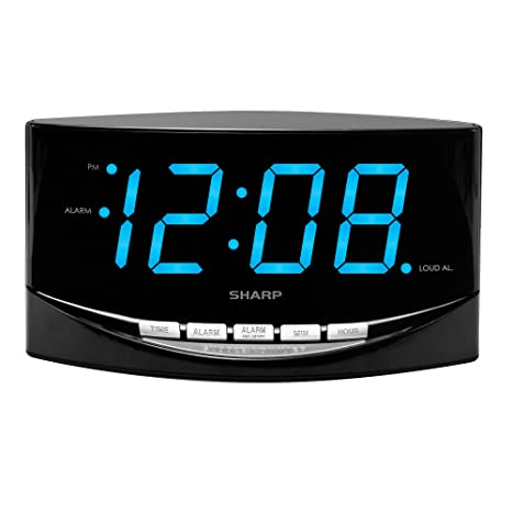 Amazon Com Digital Alarm Clock With Easy To See Large 2 Blue Large