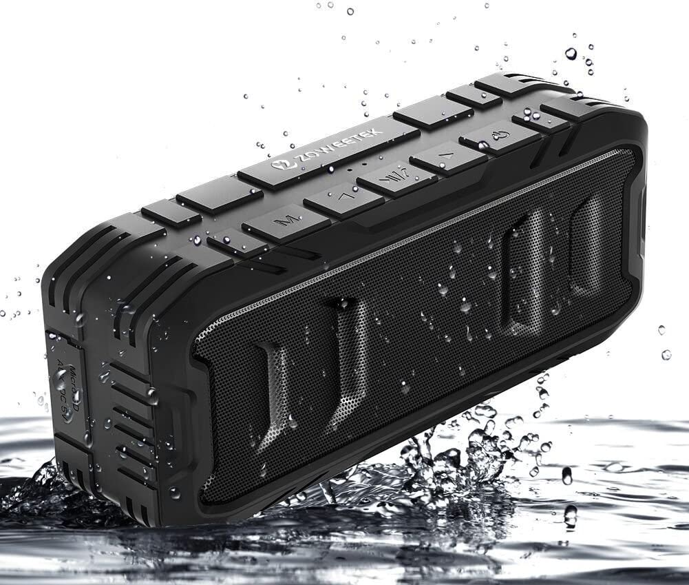 Recbot 20W Altavoz Bluetooth Portátiles, Función TWS, 4.2 inalámbrico,Sonido Estéreo Fuerte, Rich Bass,Llamadas Manos Libres,24 Horas de Reproducción para Camping,Viajes, Aire Libre, Piscina.