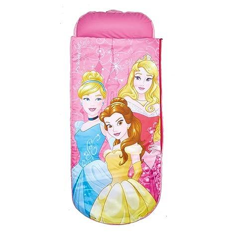Disney Princesas Cama Hinchable y Saco de Dormir 2 en 5, Poliéster ...