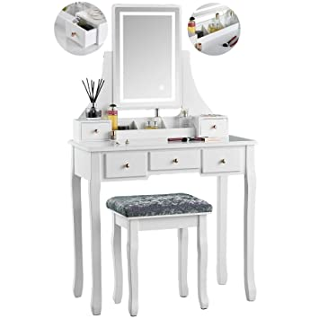 quality design f90a9 df56c IceCreamLiving Savannah White Dressing Table with Touch ...