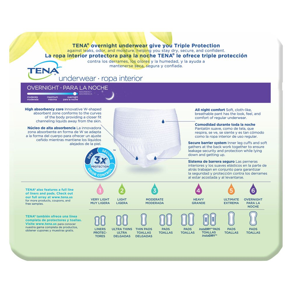 Amazon.com: TENA Overnight Underwear, Medium, 16 Count: Health & Personal Care