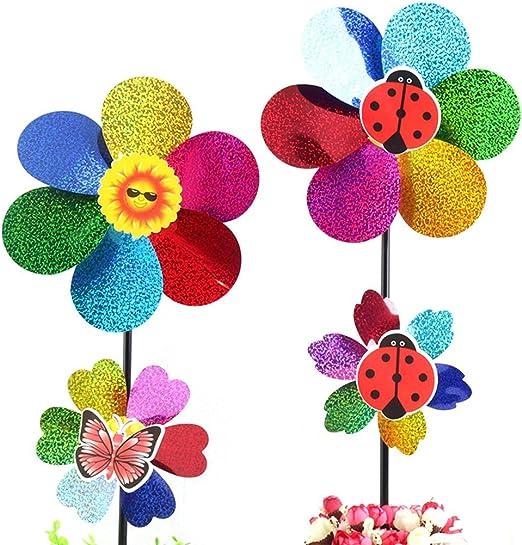 Enfants jouet coloré paillettes moulin à vent Spinner Maison Jardin décoration *