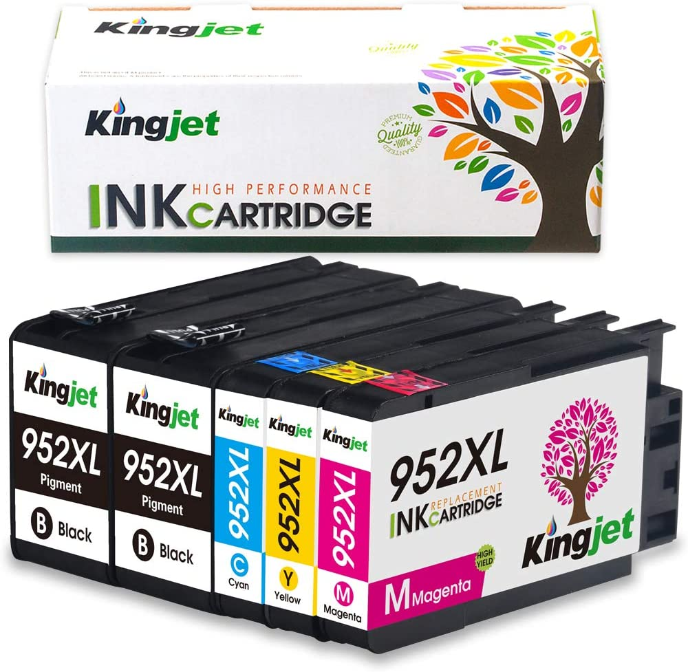 Newest-Generation Ink Replacements for 952, 952XL Ink Cartridges Compatible with HP Officejet Pro 7720 7740 8210 8216 8702 8710 8715 8720 8725 8730 8740 Printers (5 Pack)