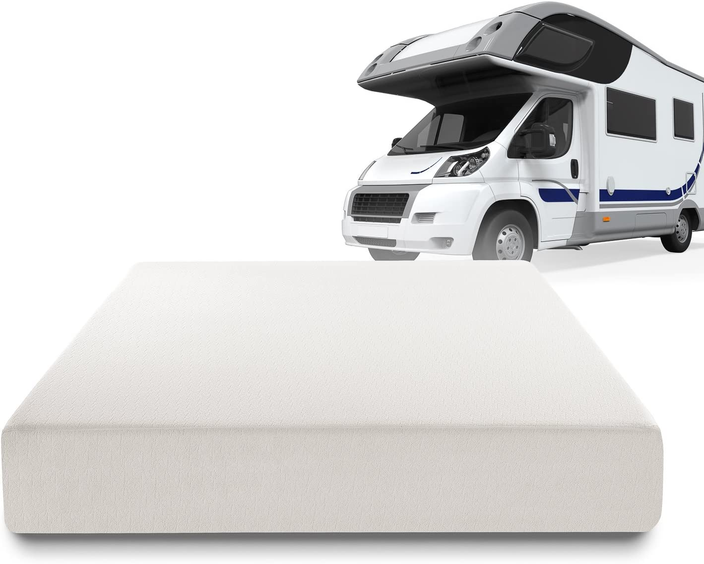 Zinus RV-AZ-FMS-10SQ Sleep Master Deluxe Memory Foam 10 Inch RV//Camper//Trailer//Truck Mattress Short Queen