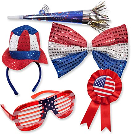 American Uncle Sam Hat Headband Costume Accessory