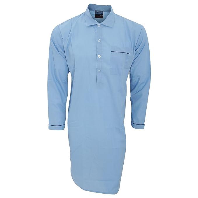 ddae838d7 Camisón   pijama liso de tela manga larga hombre caballero  Amazon.es  Ropa  y accesorios
