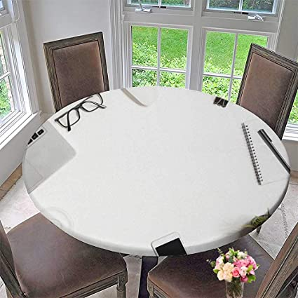 Amazoncom PINAFORE HOME Round Table Tablecloth White Office Desk - Office desk table cloth