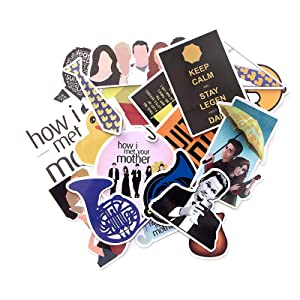 20 Pcs How I Met Your Mother Waterproof Stickers Kids Toy Sticker for DIY Luggage Laptop Skateboard Car Decor