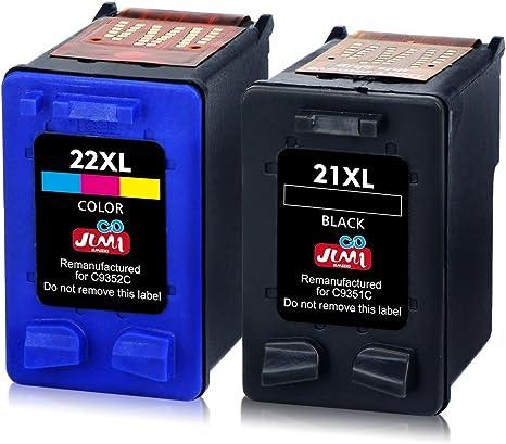 JIMIGO 21XL 22XL Cartuchos de Tinta Remanufacturado HP 21 22 ...