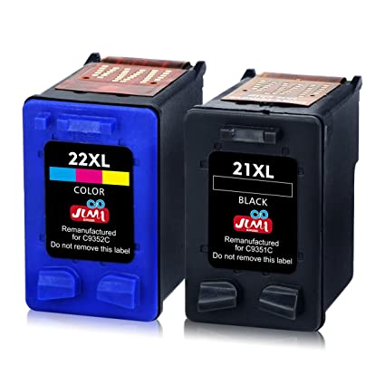 JIMIGO 21XL 22XL Cartuchos de Tinta Remanufacturado HP 21 22 Cartuchos de Tinta Compatible con HP PSC 1410, HP Deskjet F4180 F2280 F380 F2180 D2460 ...