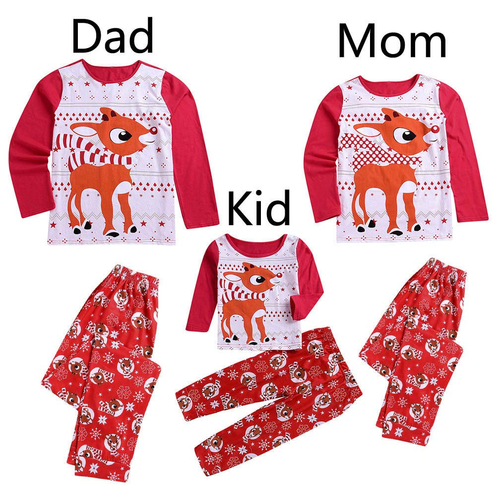 Family Matching Clothes Unisex Long Sleeve Pajamas Family Sleepwear Christmas Pajamas Set Holiday Suits: Amazon.com: Grocery & Gourmet Food