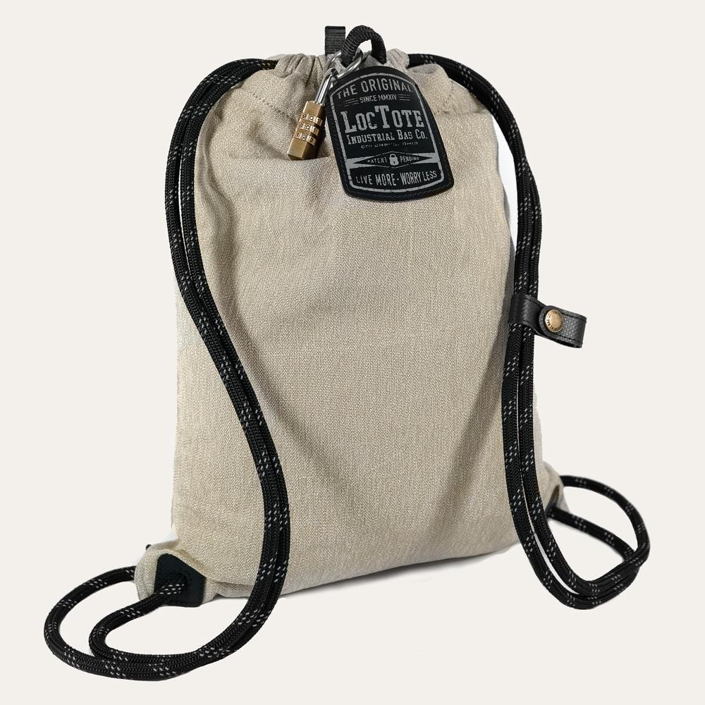 LOCTOTE Flak Sack SPORT - Lightweight Theft-Resistant Drawstring Backpack