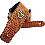 Guitar Strap, PU Leather, Include 2 Strap Locks & 2 Picks. Length Adjustable, Suitable for Electric Guitar, Acoustic Guitar and Bass - Unique Gift For Guitarist