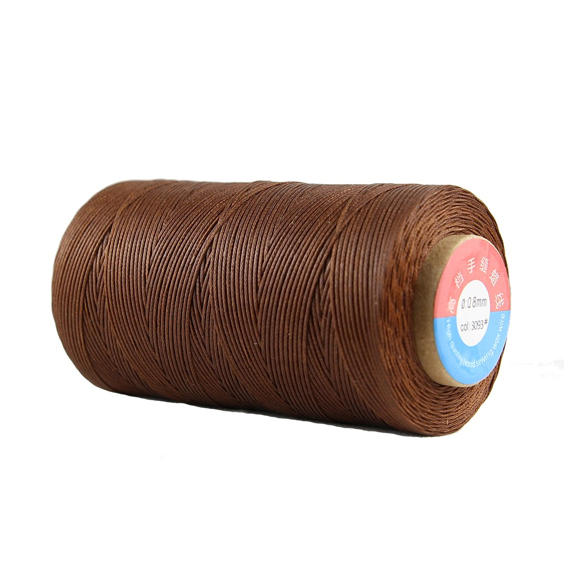 285Yards Leather Thread Waxed Polyester Sewing Thread 150D 16Ply 0.8mm Diameter for Leather Stitching Craft HONGLI
