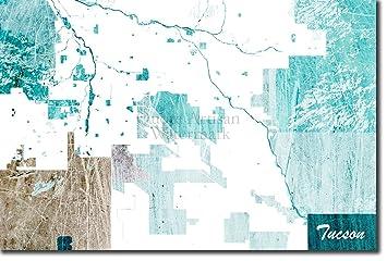 Amazon.com: Tucson, Arizona, USA Original Map Design \