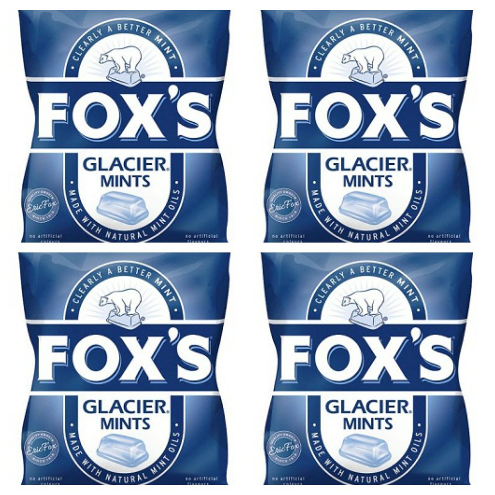 Bundle of 4 Fox's Glacier Mints 200g Bag Delivers 3-5 Days USA