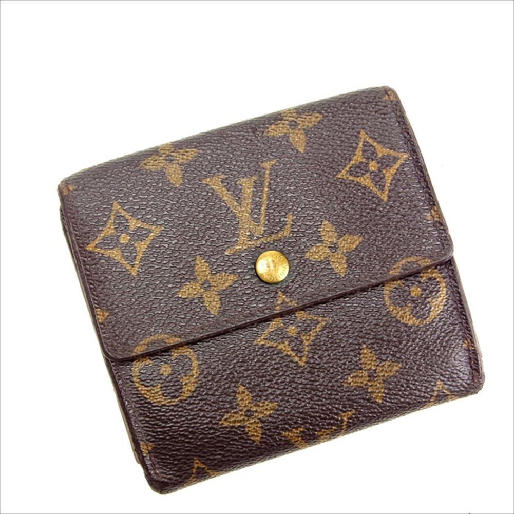 ルイヴィトン Louis Vuitton Wホック財布 三つ折り ユニセックス ポルトフォイユエリーズ M61652 モノグラム 中古 E204   B018JMSPQ6