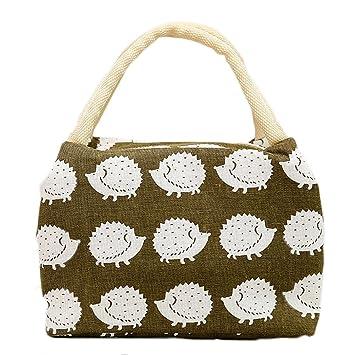 684205ac0 Bolsa térmica para el almuerzo de LAAT, aislada, de tela, plegable, para  llevar de picnic: Amazon.es: Hogar