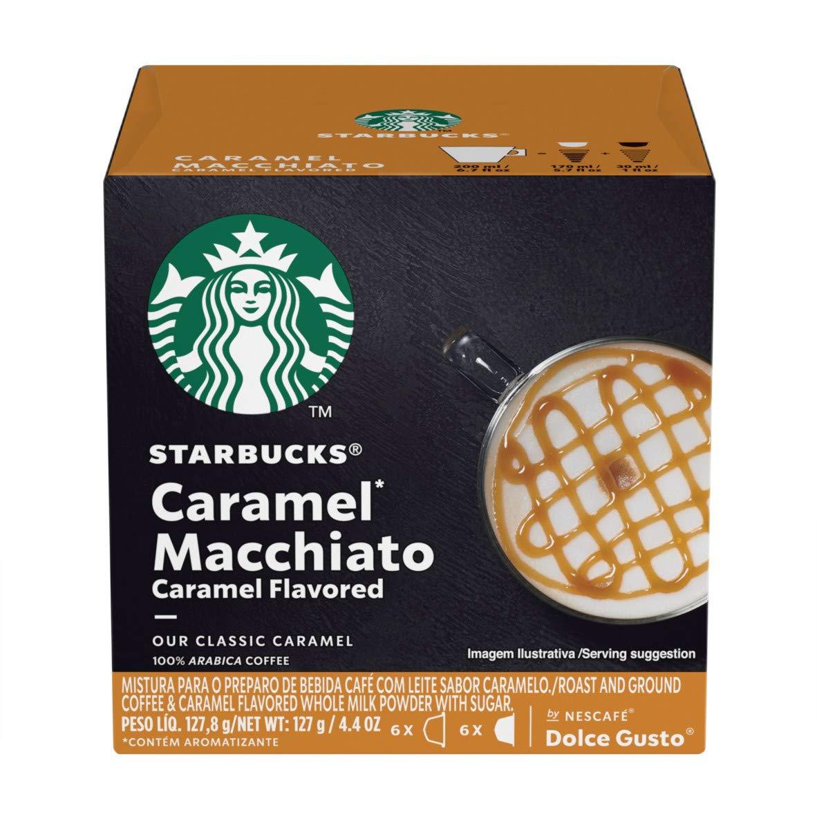 Starbucks Coffee by Nescafe Dolce Gusto, Starbucks Caramel Macchiato, 36 Capsules, Makes 18 Servings