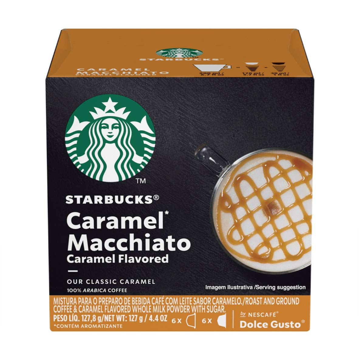 Starbucks Coffee by Nescafe Dolce Gusto, Starbucks Caramel Macchiato, Coffee Pods, 12 capsules, Pack of 3