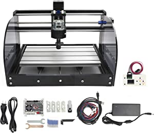 CNC 3018 Pro Max 3 Axis Desktop DIY Mini Wood Router Kit PCB PVC Milling Engraver Engraving Carving Machine GRBL Control with offline controller Hand Control (3018 Pro Max w/offline controller)