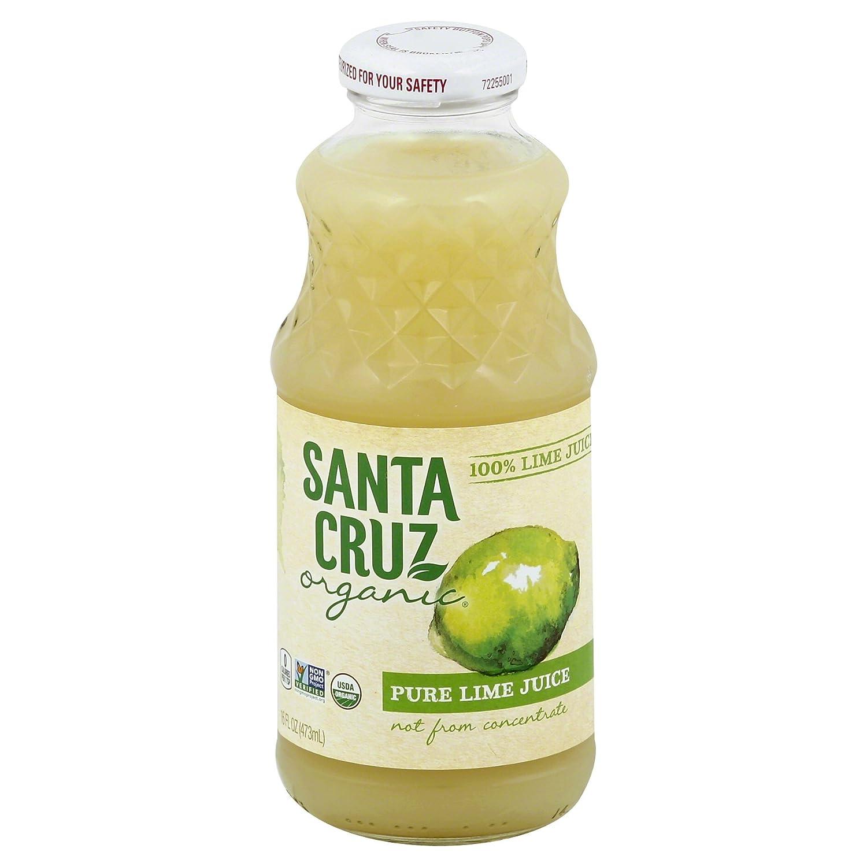 Santa Cruz Organic 100% Lime Juice, 16 Ounces