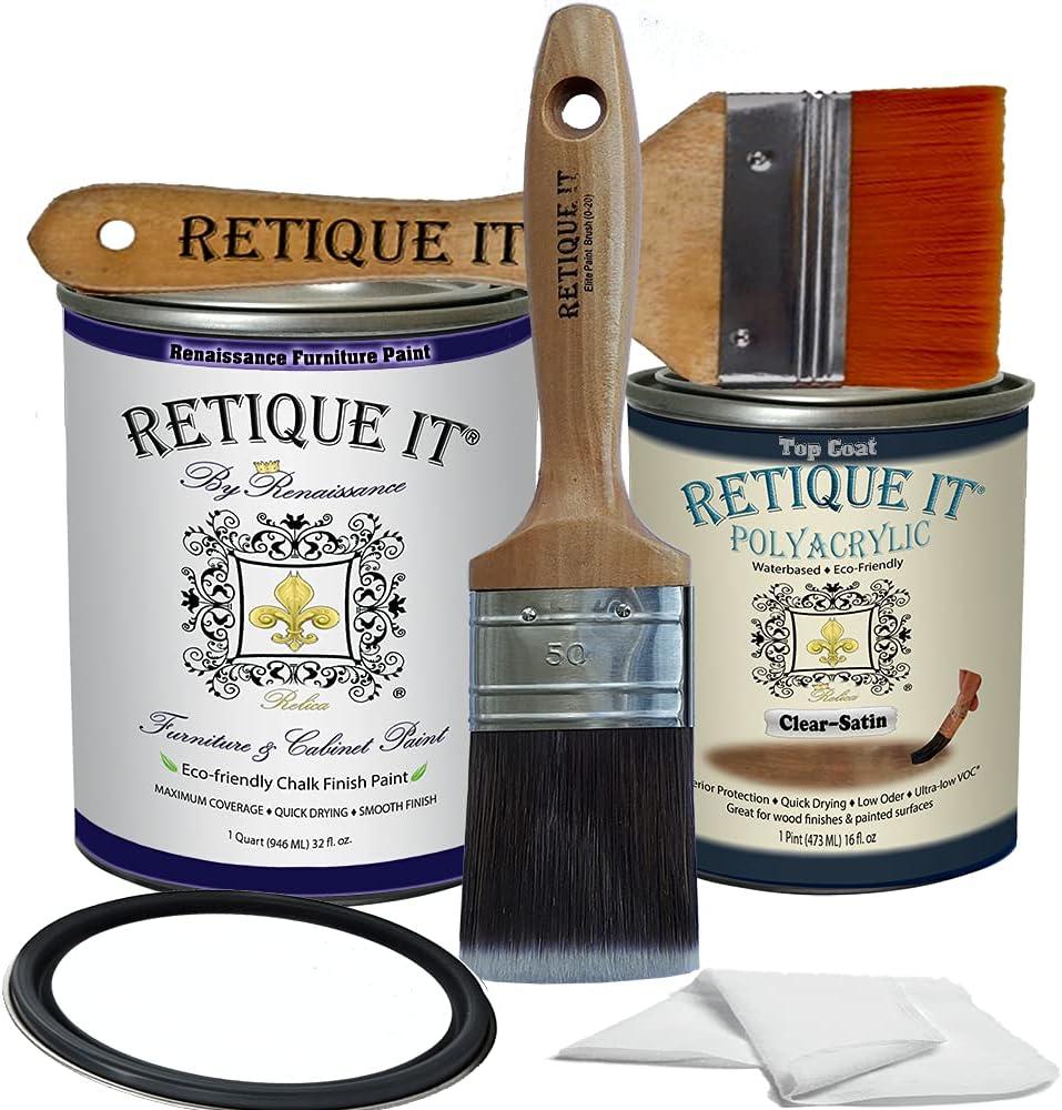 Retique It By Renaissance Furniture Paint (Poly Kit, 01 Snow - White)