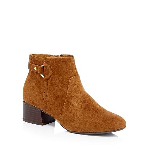218e4d9363e6 Principles Womens Brown Suedette  Cimba  Block Heel Wide Fit Ankle Boots 4
