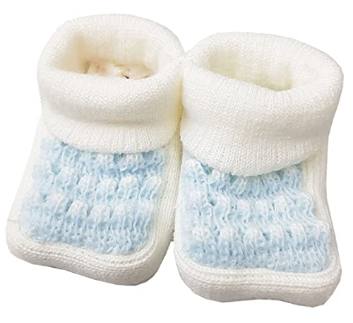 BOY SOFT BOOTIES WITH PICTURE 0-3 MTHS BABY GIRL APPROX