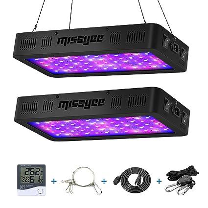 Amazon.com: Luz LED de crecimiento 600 W Missyee con sensor ...