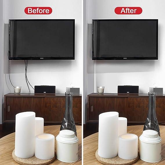 """Canal de cables, 15.7"""" X 10 Canales portacables AGPtEK para ocultar y proteger cables, canales para paso de cables, kit de montaje en pared con diferentes canales para todo tipo de cables"""