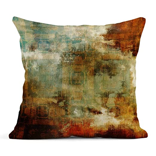 Kinhevao Cojín Abstracto y lápiz Patrón de Damasco Colorido ...