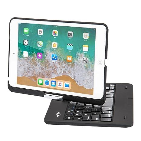 ab8ab22f383 BATTOP iPad Mini Keyboard - Swivel 360 Degree Rotatable Bluetooth Keyboard  Case - iPad Mini Bluetooth