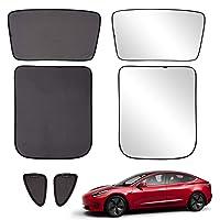 Xipoo Tesla Model 3 Sun Shades Glass Roof Sunshade Sunroof Rear Window Sunshade Foldable for Tesla Model 3 Accessories…