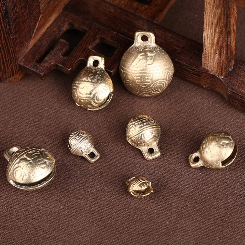 Door Christmas Tree Supvox 10Pcs 37mm Vintage Bronze Jingle Bells Craft Bells Christmas Jingle Bells Christmas Metal Bells for Home