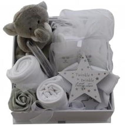 Twinkles - Juego de cesta unisex para bebé de 8 piezas, regalo ...