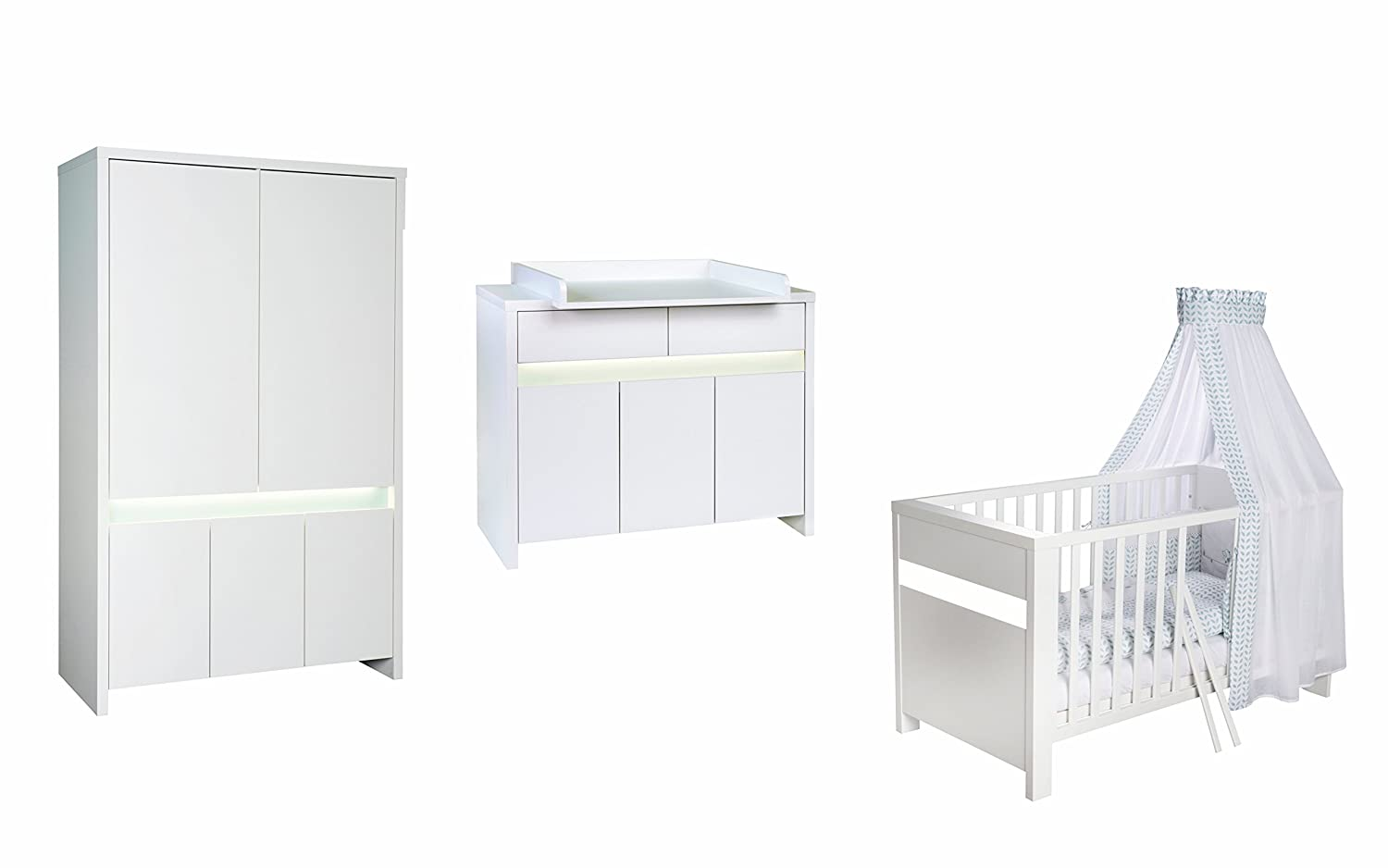Schardt Kinderzimmer Planet White 3-teilig