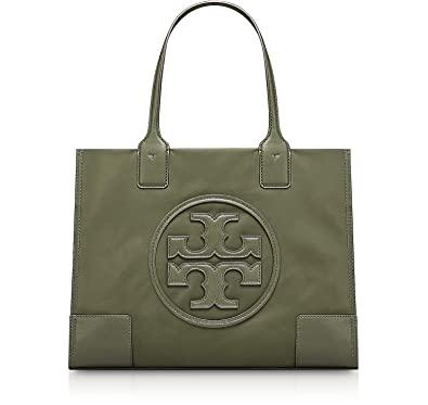 6abf139ea9b9 Tory Burch Women s Mini Ella Nylon Top-Handle Bag Tote (Green)  Handbags   Amazon.com