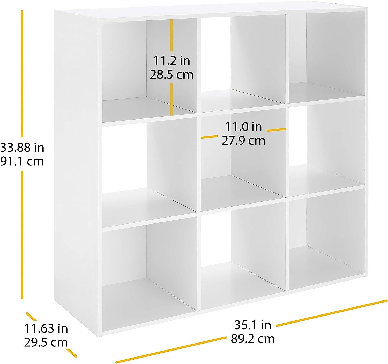 wooden cube storage organizer