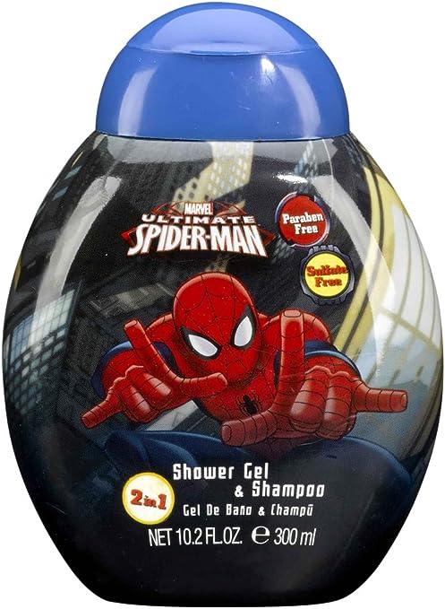 Spiderman Gel de Ducha y Champú Marvel - 1 Pack: Amazon.es: Belleza
