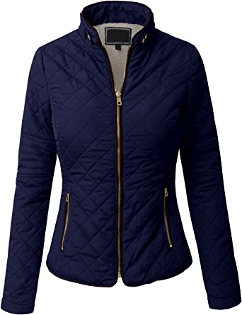 S-3XL NE PEOPLE Womens Lightweight Quilted Faux Fur Inside Zipper Vest