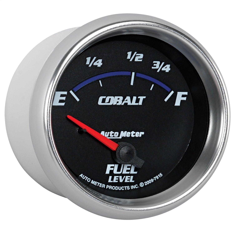 Auto Meter 7915 Cobalt 2-5/8' 73 E/ 10 F Short Sweep Electric Fuel Level Gauge