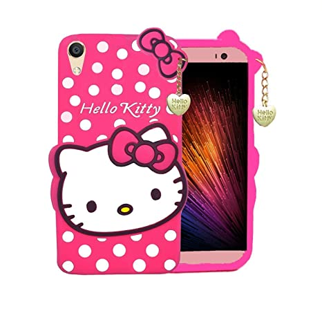the best attitude c9186 3e136 COVERNEW Cartoon Hello Kitty Back Cover for Oppo A37: Amazon.in ...