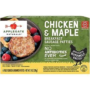Applegate, Natural Chicken & Maple Breakfast Sausage Patties, 7oz (Frozen)