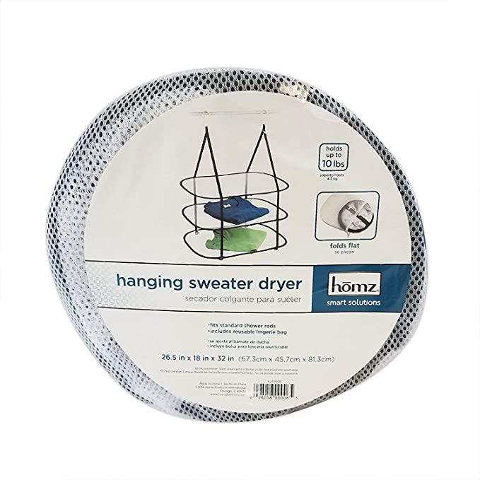 Amazon.com: HOMZ Hanging Sweater/Delicates/Swimsuit Dryer, 3 Tier Drying Surface, 10Lb Capacity: Home Improvement
